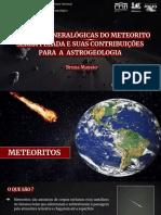 Análises Mineralógicas Do Meteorito Serra Pelada e Suas Contribuições Para a Astrogeologia