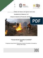Programa Especial de Protección Contra Incendios Forestales y Manejo Del Fuego 2021 SPC 2