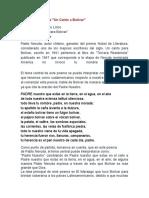 Analisis del Poema UN CANTO A BOLIVAR