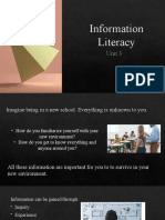 Unit 3 Information Literacy