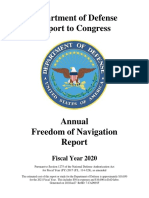 FY20 Annual Freedom of Navigation Report