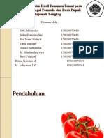 Pertumbuhan dan Hasil Tanaman Tomat pada Aplikasi Berbagai