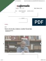 La Jornada - Muere a los 89 años, el pintor y escultor Vicente Rojo
