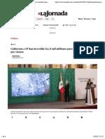 La Jornada - Gobiernos e IP han invertido $27.8 mil millones para reconstrucción por sismos
