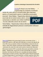 Examenele medicale pentru screening-ul cancerului de col uterin