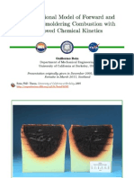 Computational Model of Smoldering Combustion with Chemical Kinetics (Phd Thesis Revisited)
