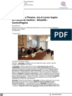 Università, a Pesaro al via corso legato alla nautica - Centropagina.it, 17 marzo 2021