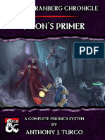 The Korranberg Chronicle Psion's Primer a Complete Psionics System