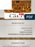 THE LALIT HOTEL PPT