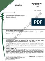 Projet de norme marocaine 10.1.370-EN-14844A2