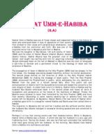 HADRAT UMME-E-HABIBA(R.A)