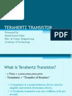 TERAHERTZ TRANSISTOR(ppt) in pdf format