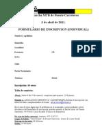 Formulario inscripción individual 2011