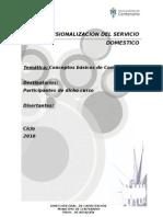 CONCEPTOS BASICOS DE COSTURA- PROFESIONALIZACIÓN DEL SERVICIO DOMESTICO