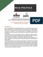 Especialização Em Ciência Política - InFORMATIVO (2)