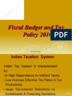fiscal budget and tax policy