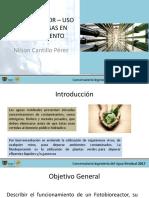 FOTOBIOREACTOR - Uso de algas en biotratamiento  - Nilson Cantillo