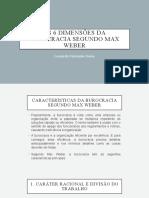 as 6 dimensões da burocracia Max weber