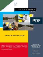 ESTUDIOS PREVIOS - ICCU-CM-004 DE 2020 - ESTUDIOS Y DISEÑOS