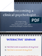 Psychology Talks 2011_Dr Gregor PPT