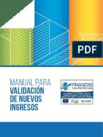 Manual para Validación de Nuevos Ingresos - con enfoque de innovación pública.