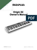 MIDIPLUS_Manual_Origin62_EN_V1.3