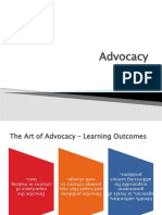 Chapter 03 Advocacy - Learning Outcomes