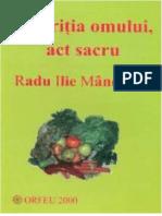 Radu Manecuta - Nutritia Omului Act Sacru #1.0~5