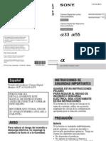 Manual Sony A33 y A55
