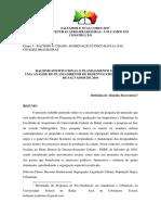 Boaventura, Bethânia de Almeida. Racismo Institucional e Planejamento Urbano - Uma Análise Do Plano Diretor de Desenvolvimento Urbano de Salvador de 2016