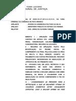 AC 000613347.2014.8.16.0131 Voto. Denunciacao Caluniosa. Violencia Contra Mulher. Aplicacao Do Principio Do in Dubio Pro Reo (1)