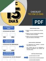 Checklist Tcc Em 15 Dias