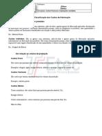 Classificação dos custos-Exercícios111111111