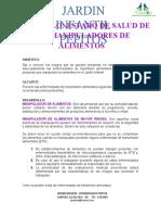 ESTADO DE SALUD DE LOS MANIPULADORES DE ALIMENTOS