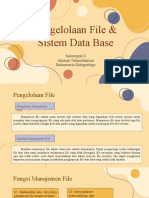 Pengelolaan File & Sistem Data Base ( Kel. 3 )