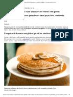 2 receitas práticas de panqueca de banana sem glúten - vivomaissaudavel.com