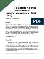 SPVEA. O Estado Na Crise Do Desenvolvimento Regional Amazonico