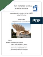 ORDENAMIENTO DEL ESPACIO ARQUITECTONICO- TRABAJO DE INVESTIGACION