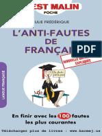L'Anti Fautes de Francais