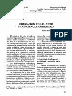 Educacin Por El Arte y Conciencia Ambiental_luis Hernan Errazuriz l