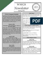Spring 2011 WMGS Newsletter