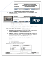 EJEMPLO DE CODIFICACIÓN Y ESPECIFICACIONES PARA DOCUMENTOS Y REGISTROS