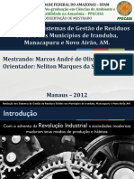 PPT - Avaliação de Sistemas de Gestão de Resíduos Sólidos Nos Municípios de Iranduba - Dissert. Marcos Castro