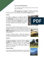Historia de Los Traslados de La Capital de Guatemala 1