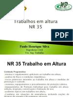 TREINAMENTO NR 35 WD Consultoria (Paulo)