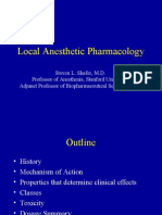 Local Anesthetic Pharmacology