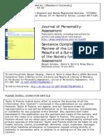 Jurnal Sentence Completion Test (SCT)