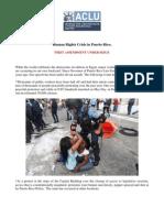 Informe Human Rights Crisis in Puerto Rico de ACLU