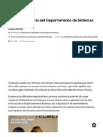 Gestión y Servicio Del Departamento de Sistemas - GestioPolis