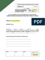 FT-SST-012 Formato de Cierre de Las Votaciones Elección Del COPASST